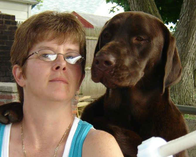 Donna and pup photo